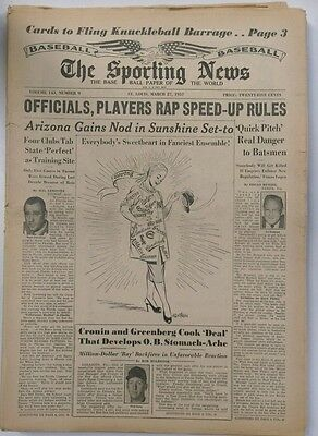 The Sporting News Baseball Paper of the World March 27, 1957 (Not Mint)