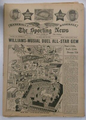 The Sporting News Baseball Paper of the World July 10, 1957 (Not Mint)