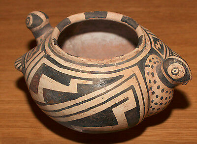 Early Pueblo Pottery (possibly Zuni) Monochromatic Bowl with Bird Motif