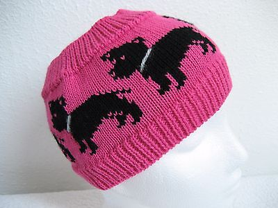 Staffordshire Bull Terrier Dog Knitted Pink Headband/ Earwarmers Adult Size