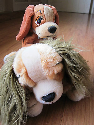 Lady and the Tramp Puppy Dog Plush + beanie Toys Disney Store Cuddly