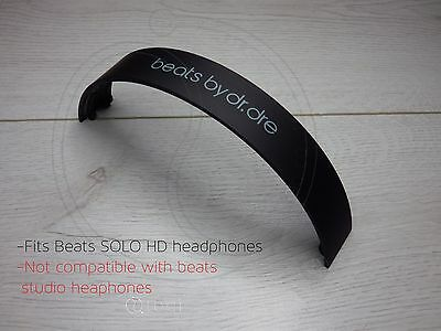 Dr Dre Beats Solo HD Replacement Top Headband For Headphones Matte Black Quality