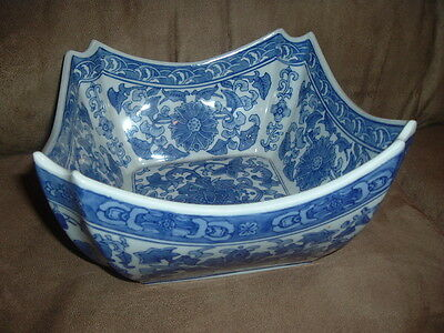 Blue And White Chinese Large Porcelain Flower Pot