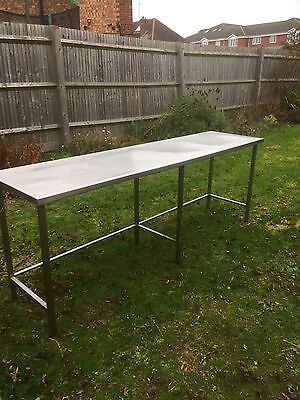 Stainless Steel Catering Table, Prep Table 2.4m X 60cm X 90cm High