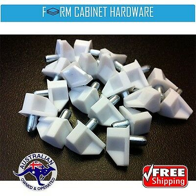 20 X White Plastic Shelf Support Pins 5mm