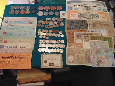 MASSIVE BULK LOT OF 238  items: TRADE,COINS,PAPER AND OTHER VARIOUS ITEMS!