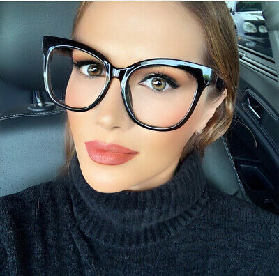 00ab273be0 Oversized XXL Square CAT EYE Large Clear Lens D Smart Glasses Big Fashion  Frames