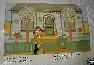 Vintage Glossy School Poster from 1970's - Two Four Six Eight