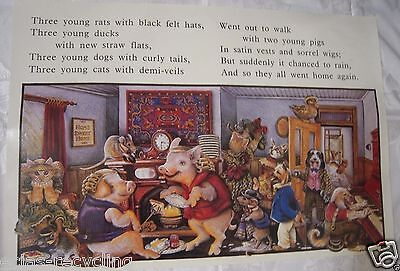 Vintage Glossy School Poster from 1970's - Three Young Rates