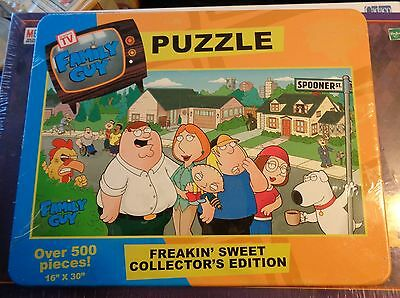 Family Guy Puzzle Freakin Sweet Collectors Edition Over 500 Pieces NIP L@@K