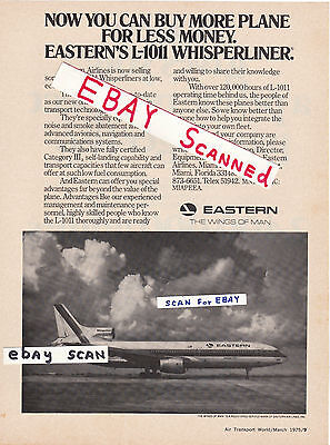 Eastern Air Lines L-1011 Tristar For Sale Ad