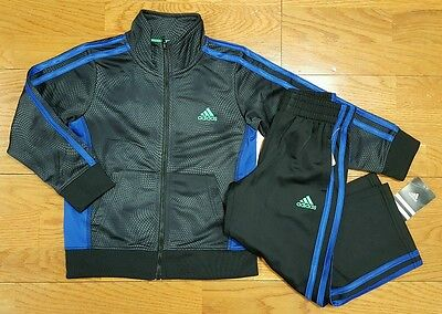 adidas Boys Size 4 Track Suit (Jacket and Pants Athletic Set) NWT