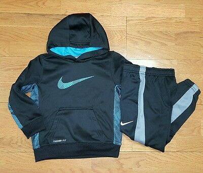 Nike Boys Size 4 Therma-Fit Hoodie Sweatshirt and Athletic Track Pants Set NWT