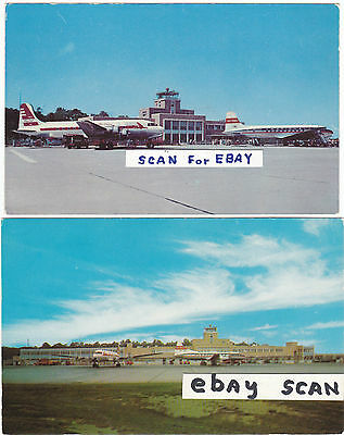 Airport Postcards National  Airlines & Captial Airlines Props  (2)