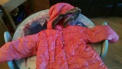Laredoute Cocoon Girls Pink Jacket Size 3 Yrs