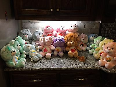 17 Vintage Care Bears and Cousins Lot