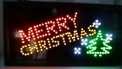 Merry Christmas Neon Light SIGN perfect for any Business or Home window decorati