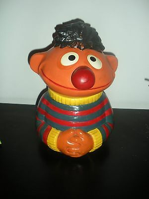 Vintage 1970's Muppet Inc #973 Ernie Sesame Street Cookie Jar Colorful