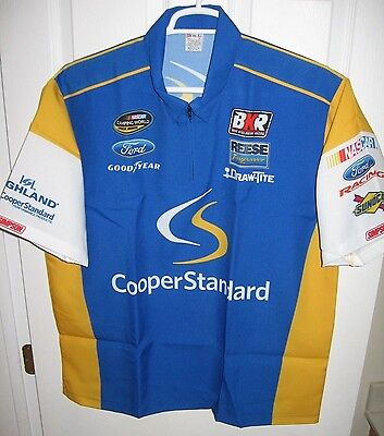 NEW XL Nascar Ryan Blaney Brad Keselowski Racing Simpson Pit Crew Shirt BKR FORD