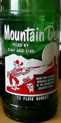 1965 Mountain Dew bottle: Filled by Clay and Cleo