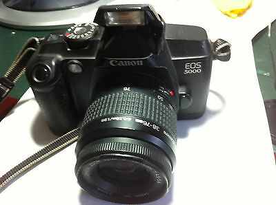 Canon 35mm EOS 5000 film camera black, complete with zoom lens