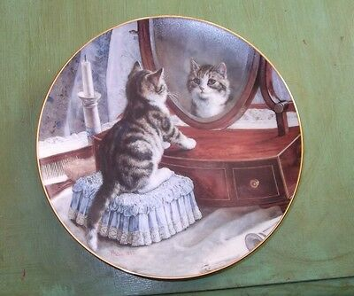 Who's The Fairest Of Them All? Cat Plate by Frank Paton for Victorian Cat Capers