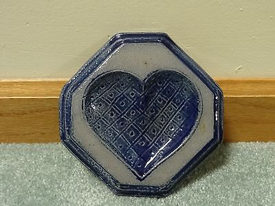 EUC 1995 Rowe Pottery Small Heart Design Wall Plaque or Spoon Rest