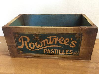 ROWNTREES PASTILLES vintage Reproduction Australian Wooden BOX Confectionary