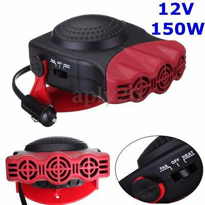 Portable 12V 2in1 Car Heater Heating Cooling Fan Travel Auto Demister Defroster