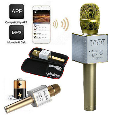 Q9 Bluetooth Wireless Karaoke Microphone Speaker USB Player For IPhone/Android