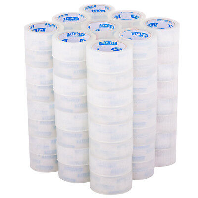 "72 Rolls 2""x110 Yards(330' ft) Box Carton Sealing Packing Package Tape Clear New"
