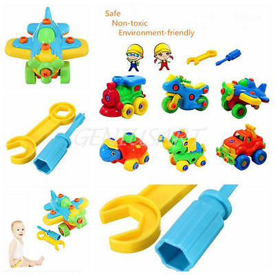 Pop Hot Christmas Gift Kids Child Baby Boy Disassembly Assembly Classic Airplane