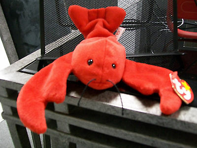 Pinchers The Lobster Ty Beanie Baby Mint Swing Tag And Tush Tag Sea Life
