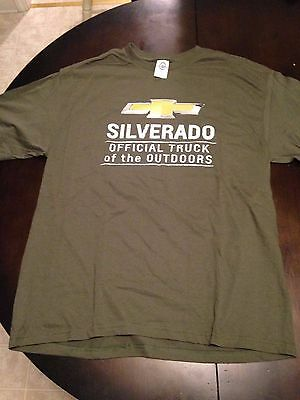 Mens  New Chevy Silverado Short Sleeve Graphic T-Shirt Cotton XL Chevrolet Truck