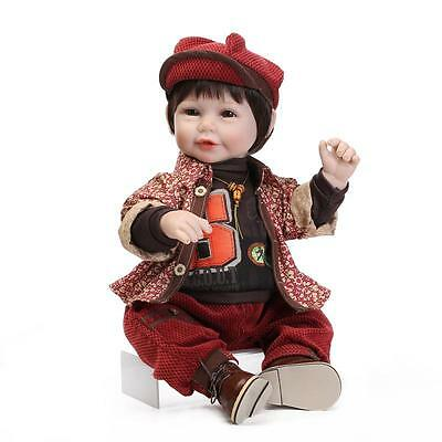 Beautiful 50CM  Handmade Lifelike Baby Doll Silicone Vinyl Reborn Newborn Dolls
