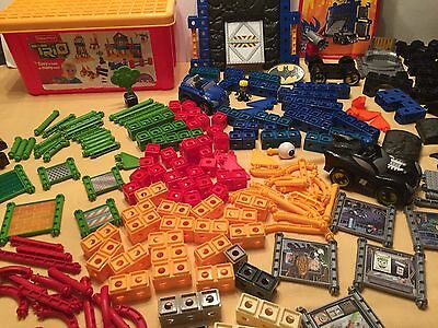 Huge Lot Fisher Price Trio Building Blocks Storage Container Batman Instructions