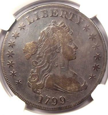 1799 Draped Bust Silver Dollar $1 - Certified NGC VF Details - Rare Coin
