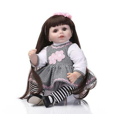 Beautiful 55CM Handmade Lifelike Baby Doll Silicone Vinyl Reborn Newborn Dolls