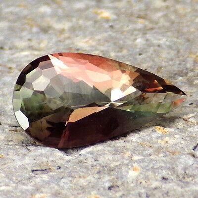 GREEN-PINK DICHROIC OREGON SUNSTONE 1.94Ct FLAWLESS-FOR TOP JEWELRY-VIDEO!