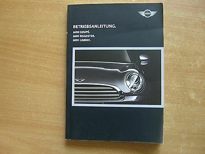 Operating Manual User Guide Mini Coupe Roadster Cabriolet 2014