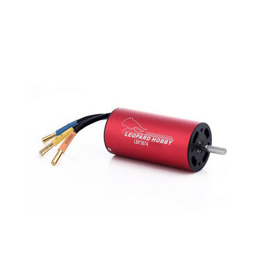 Leopard 3674 4-Pole Brushless Inrunner Motor 2200KV For RC Boat Car EDF USA!!