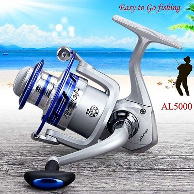 12BB Ball Bearing Metal Fishing Reel Wheel Tackle Kit Set AL Series High Speed