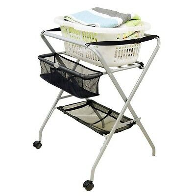 babyhood 3 in 1 change table deluxe bath stand and laundry stand
