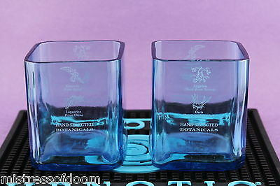 Bombay Sapphire Gin On The Rocks Glass (Set Of 2) Made From Orig. 1L Bottle