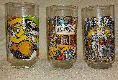 The Great Muppet Caper McDonald's cups 1981 set of 3