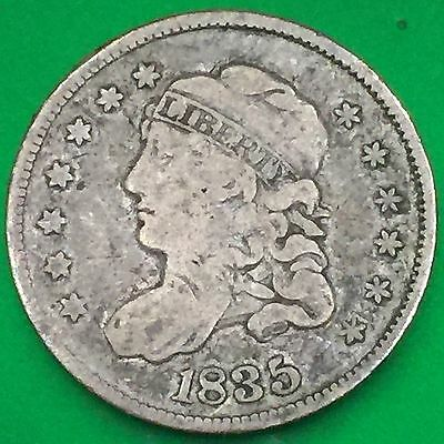 1835 Capped Bust Half Dime, Free Shipping!!