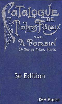 Forbin 3rd Edition REVENUE STAMPS CATALOGUE A-Z Timbres Fiscaux 797pp - CD