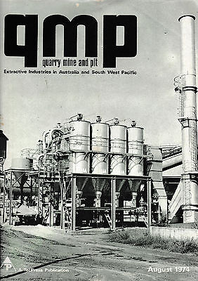 Qmp    Quarry Mine And Pit...        ( Magazine)      August 1974     ..