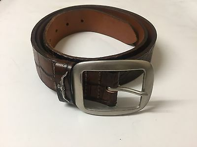 Men's RM WILLIAMS Brown Genuine Cow Hide Leather Belt Made In Australia Size 40