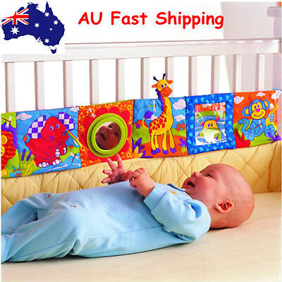 Infant baby intelligence mental development activity cot toy cloth book 2 colors